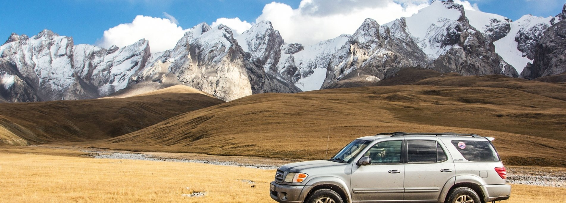 By car across Kyrgyzstan - 4x4 adventure in country of Celestial Mountains