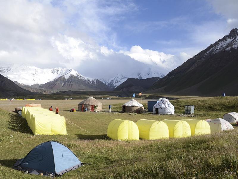 Базовый лагерь Горы Азии