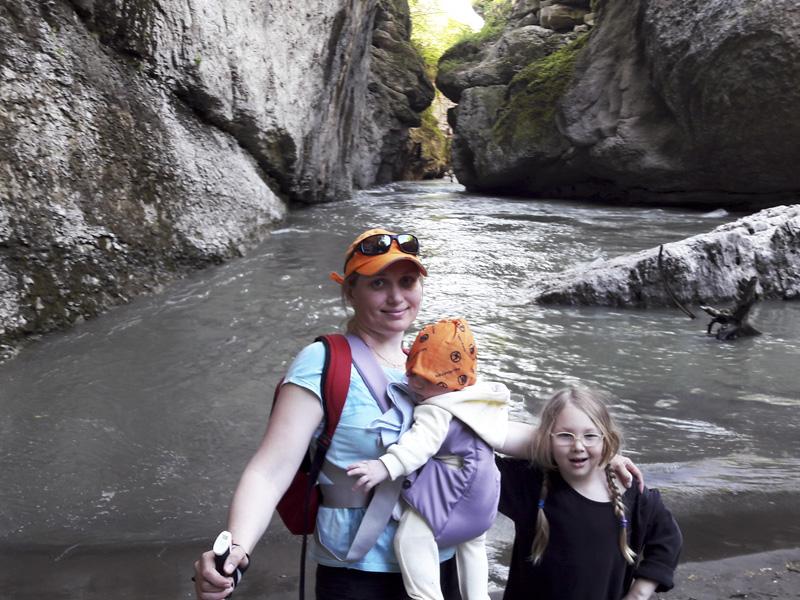 Elena with kids
