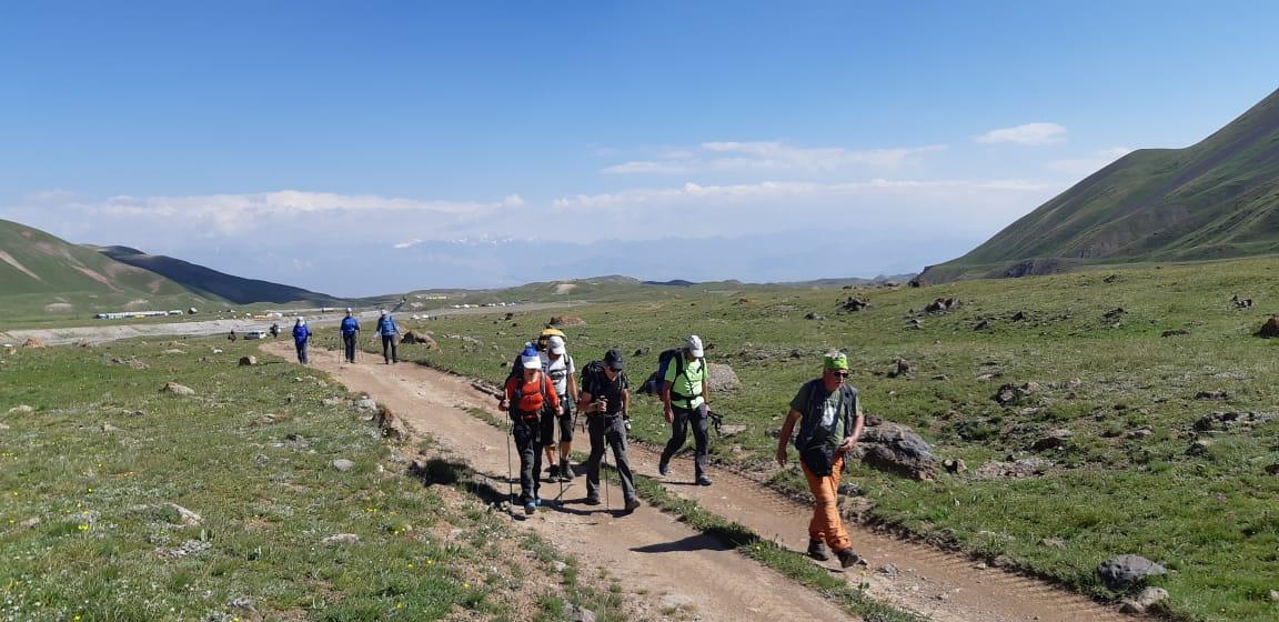 >Acclimatization hike