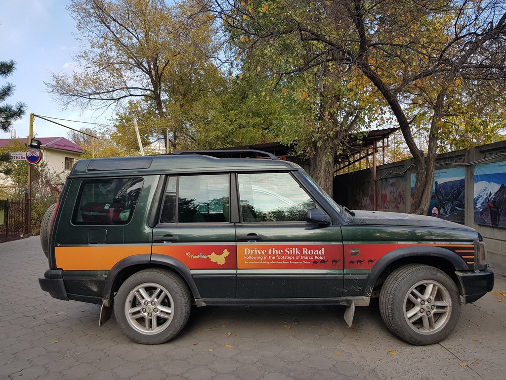 >By car along the great silk road