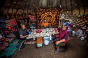Обед в национальной юрте  / Lunch inside of a national yurt