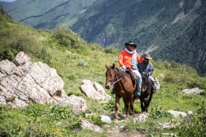 Конный тур в Киргизии / Horse riding in Kyrgyzstan