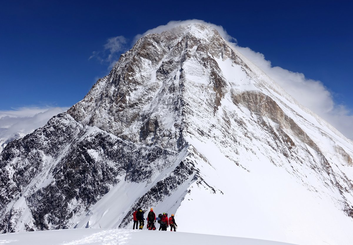 View of Khan Tengri from the western saddle